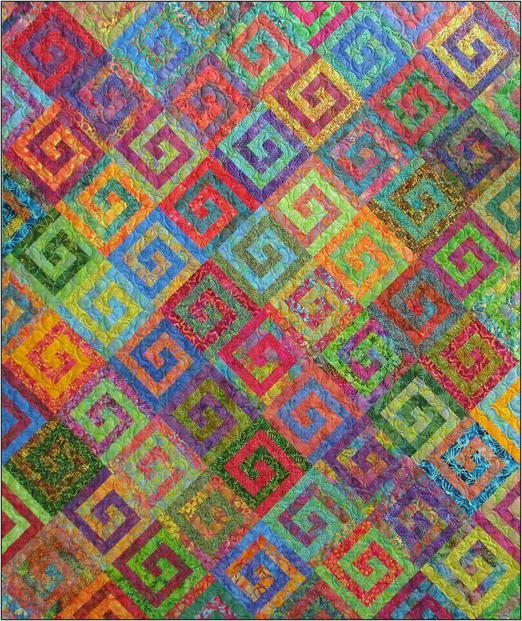 490 best Log Cabin images on Pinterest | Log cabin quilts, Log ... : easy log cabin quilt - Adamdwight.com