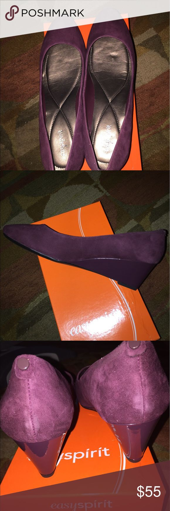 Easy Spirit Purple wedge This is a Brand new and never worn nice and comfy wedge shoe in 11 wide. Easy Spirit Shoes Wedges