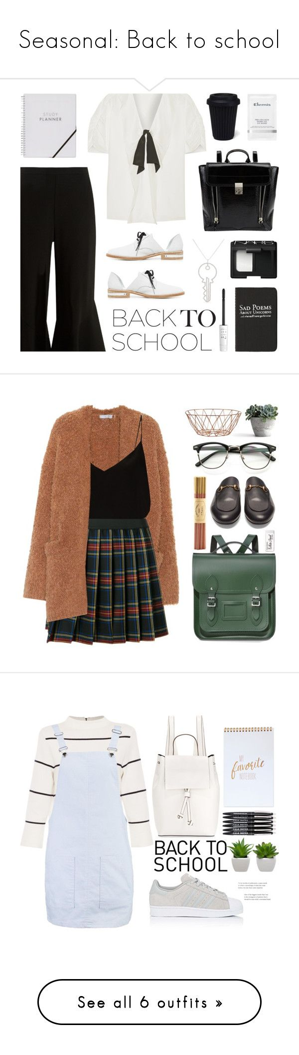 """Seasonal: Back to school"" by rmarie2001 ❤ liked on Polyvore featuring Miu Miu, Peter Pilotto, Freda Salvador, 3.1 Phillip Lim, Moleskine, Elemis, NARS Cosmetics, Art School, too cool for school and BackToSchool"