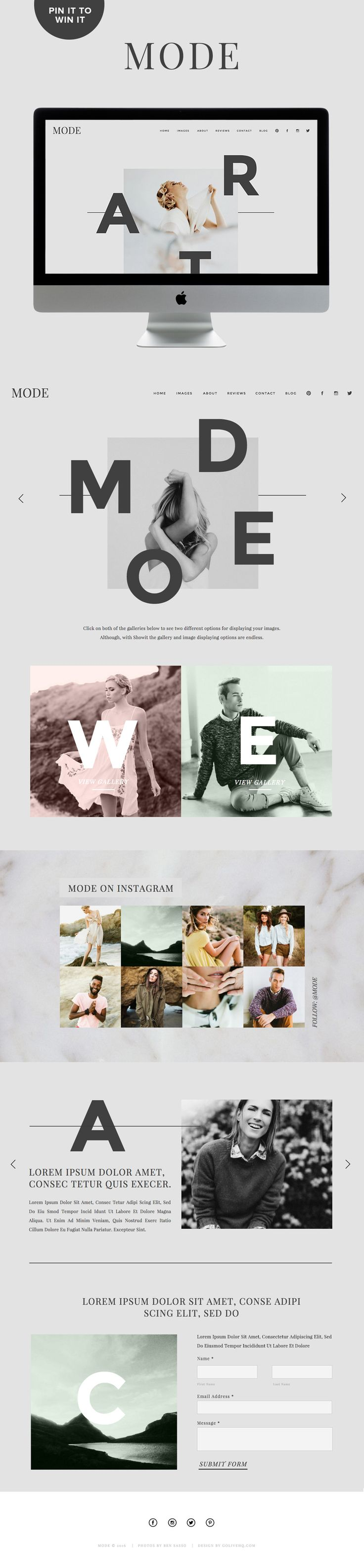 Showit 5 website theme inspiration | by GOLIVEHQ.CO