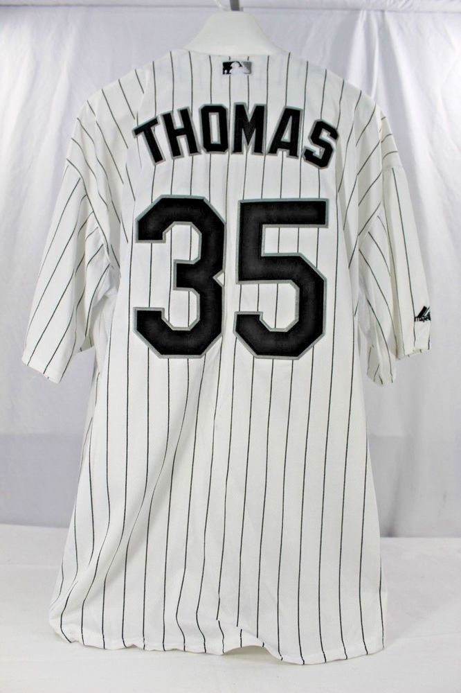 Chicago White Sox Frank Thomas  35 75th Anniv. HOF Jersey Majestic Cool  Base 52  Majestic  ChicagoWhiteSox fbe9fc4e2