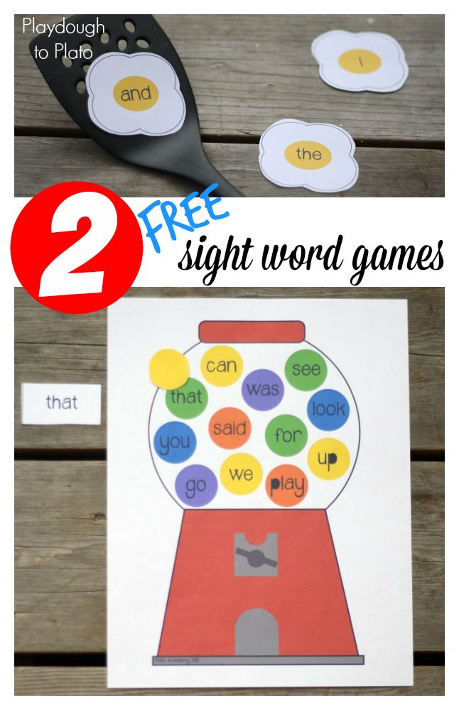 2 Free Sight Word Games