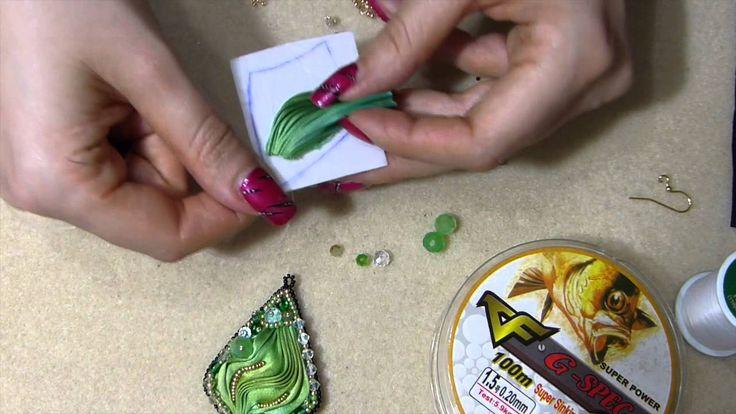 DIY orecchino o ciondolo con seta shibori ribbon tutorial fai da te embr...