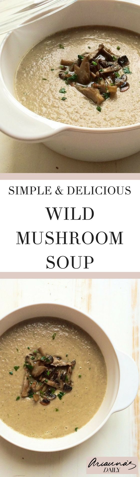 Warming and delicious check out this super easy and simple recipe for wild mushroom soup. Perfect for lunch or a winter meal starter.
