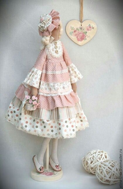 Would make doll body with air-dry clay and sew dress with lace and cotton material