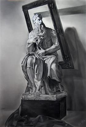 Moisés - Michelangelo Buonarroti (1985) - Рене Магритт
