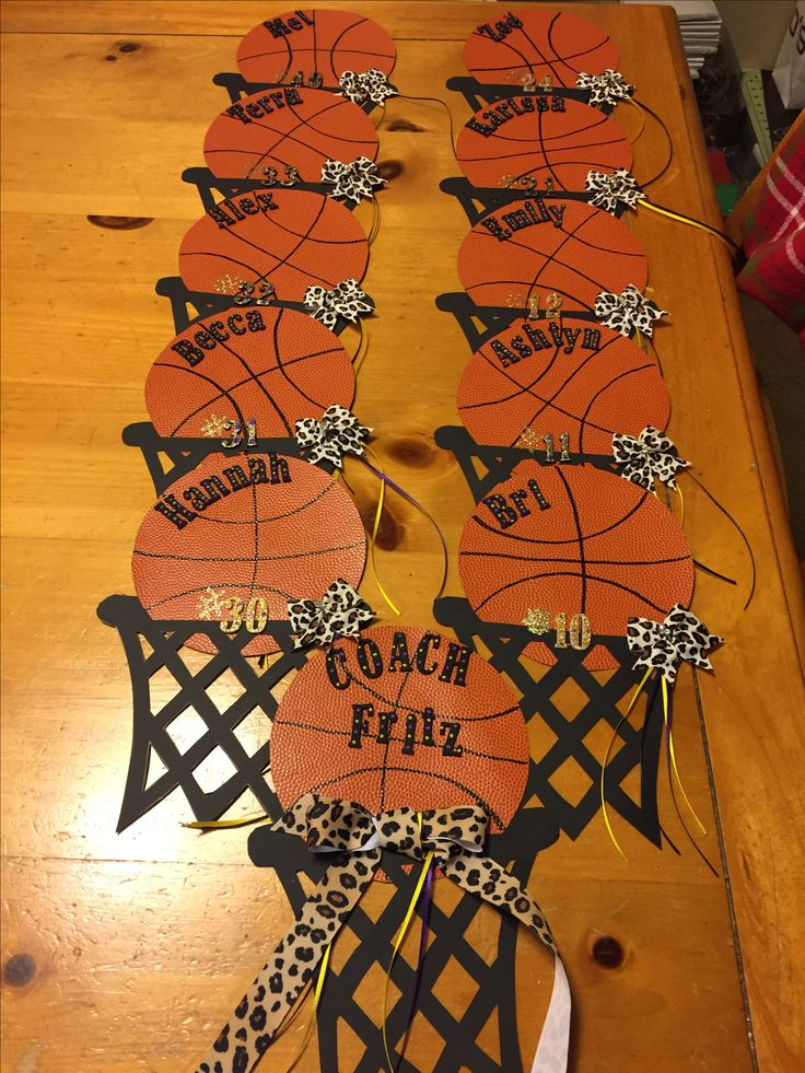Basketball player locker decoration