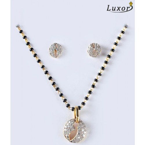 Alluring Diamond Studded Mangalsutra by Luxor 1622