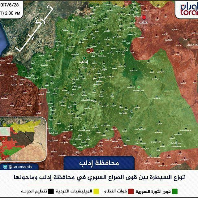 Junud Ummah Media: #infographic #kabarMujahideen  Peta terkini perkembangan di #Idlib sampai tanggal 28/6/2017. Dimana hampir 90% wilayahnya berhasil di bebaskan Mujahidin dengan pengorbanan mereka,dan kini Turki berniat masuk dan mengambil alihnya?  Hasbunallah wanikmal wakiil ══════ ❁✿❁ ══════ #Ummah #news #media #muslim #islam #mediaislam #GenerasiMudaMuslim #Wagaringfront #MuslimHarusTau #ahlussunnah #waljamaah #ahlusunnahwaljamaah #akhirzaman #muslim #MuslimAlJamaah #wakeupummah #wakeup…