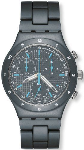 Swatch Men's Irony YCM4001AG Grey Aluminum Swiss Quartz Watch with Grey Dial Swatch. $148.75. 30 Meters / 100 Feet / 3 ATM Water Resistant. Mineral Crystal. 40mm Case Diameter. Irony Collection. Swiss Quartz Movement