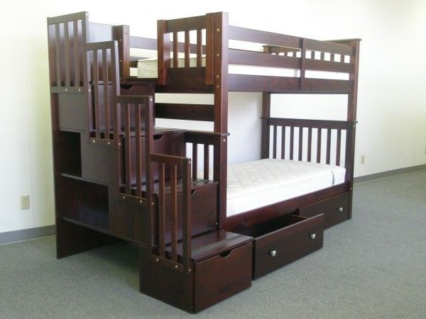 tall twin bunk bed with drawer - Hausgemachte Etagenbetten Fr Mdchen