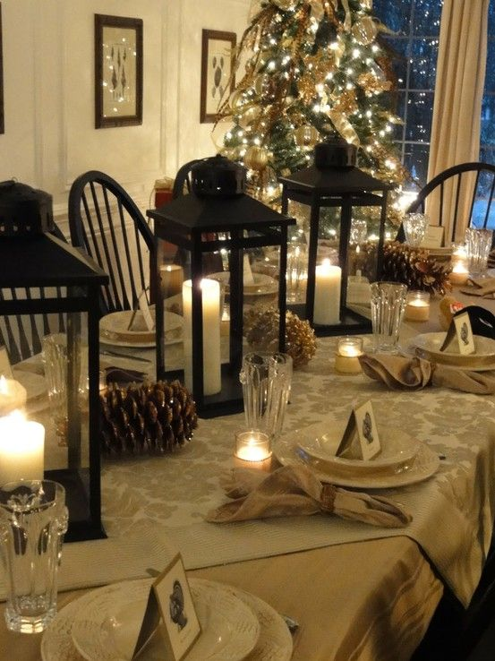 Christmas/New Year's/Winter Tablescape