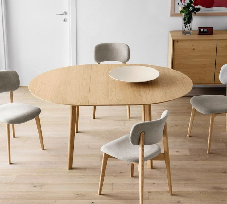 Calligaris Cream Round Extending Table