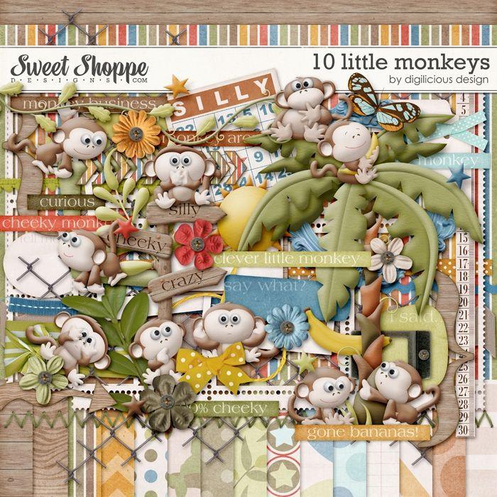 Sweet Shoppe Designs::Value Bundles::10 Little Monkeys Bundle by Digilicious Design