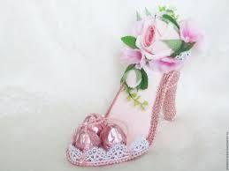 Výsledek obrázku pro мастер класс туфелька из конфет