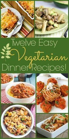 Don't wait for Monday to try these 12 Easy Vegetarian Dinner Recipes! (From Parade Magazine; thanks for including one of my favorite vegetarian casseroles!)