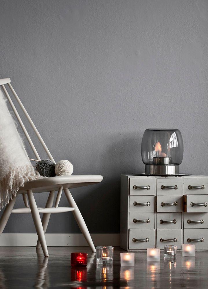 Kaasa and Fireplace by Iittala #light #candles #fireplace @Michihito Ikuma Official