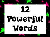 Neon 12 Powerful Words