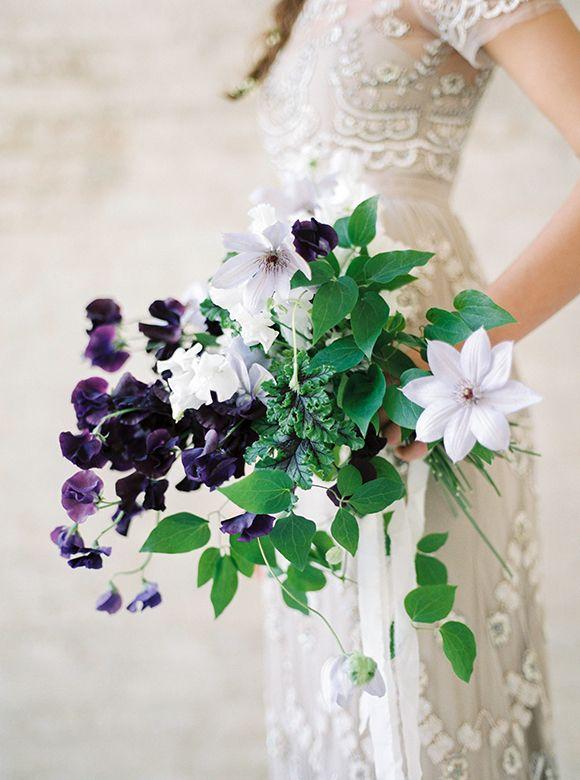 Purple clematis bouquet