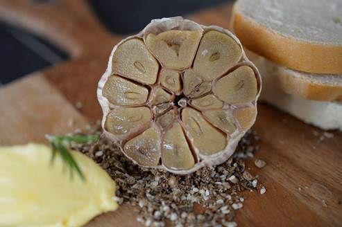 Garlic bread - Wolgan style! Confit garlic, dukkah, Pepe Saya butter and house baked bread