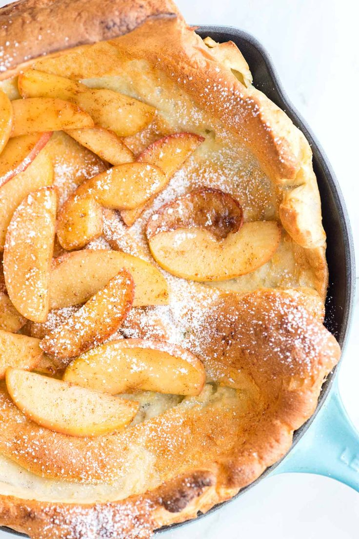 How to Make a Dutch Baby Pancake with Apples