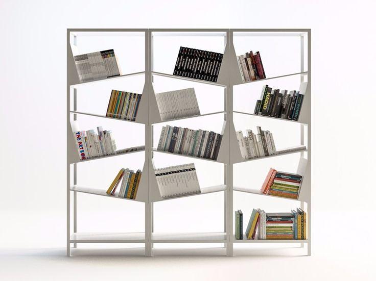 Bibliothèque composable en métal enduit MY LIBRARY by FILODESIGN di Michela Gerlo