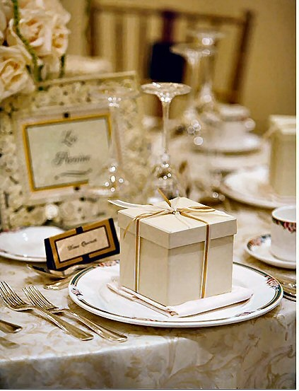 elegant favor boxes for guests elegant wedding shower