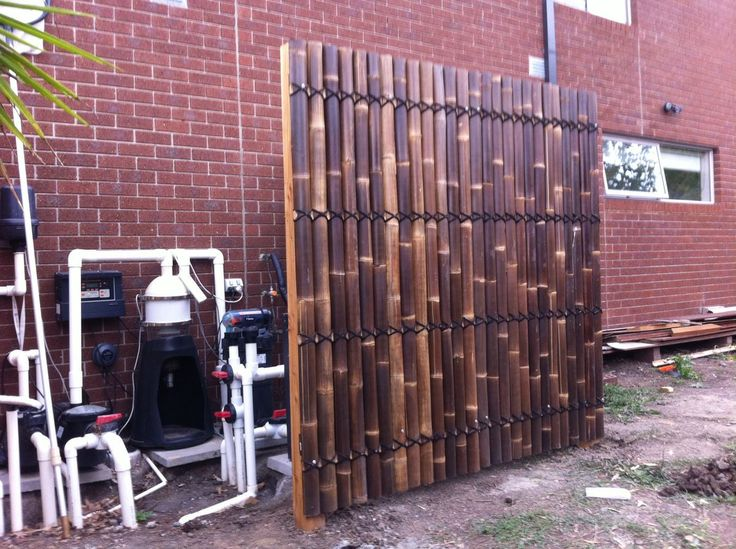 Images about decorative fencing for pool equipment