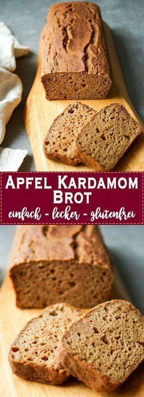 Ein sehr einfaches und schnell gemachtes Rezept für Apfel Kardamom Brot. Ein Rezept für ein perfektes Kaffee- oder Teegebäck. Das Apfel Kardamom Brot ist irgendwo zwischen Kuchen und Brot anzusiedeln. Es ist einfach zu backen und hat durch das Kardamom eine exotische Aromanote. Ein gesunder und glutenfreier Snack, der auch zum Frühstück passt. Basis aus Buchweizenmehl und Apfelmark (Apfelmus). Glutenfrei. Einfache Gesunde Rezepte - Elle Republic