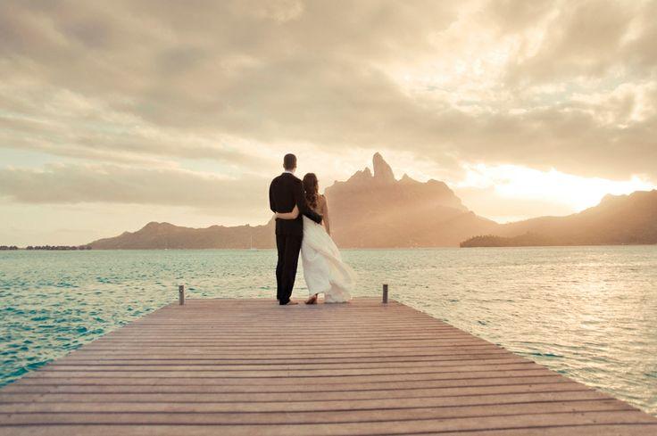 Bora Bora Sunset- Tahiti  Helene Havard Photography