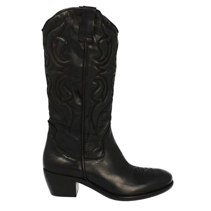 Stivali texani pelle nero
