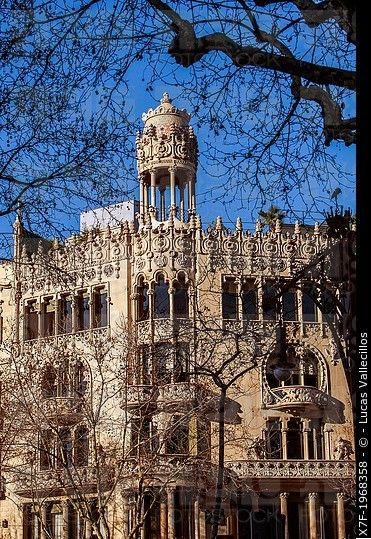 Casa Lleo Morera, by Domenech i Montaner, passeig de Gracia 35,Barcelona, Spain.
