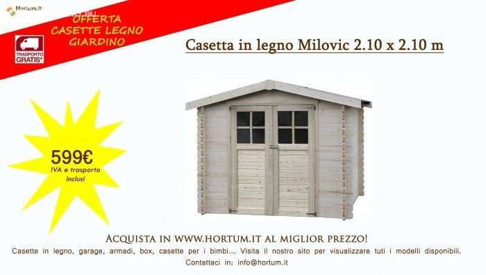 Casetta in legno al miglior prezzo