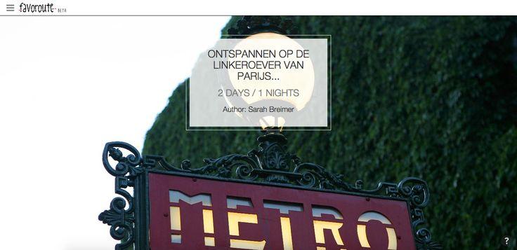 ONTSPANNEN OP DE LINKEROEVER VAN PARIJS... by Sarah Breimer.