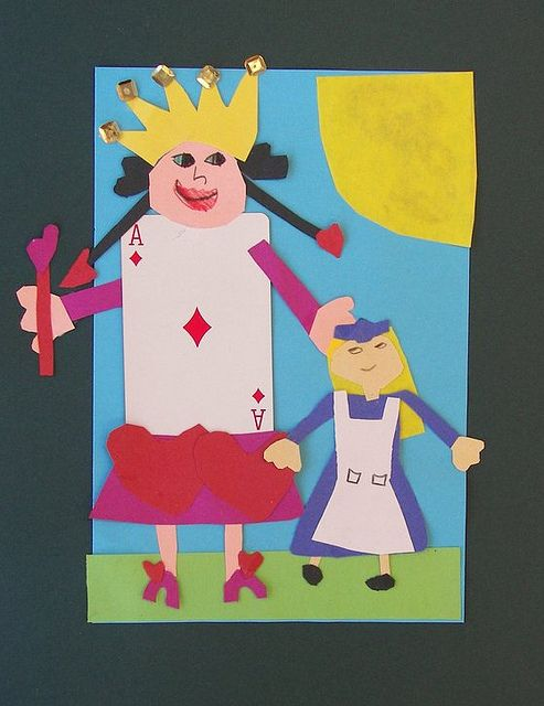 1000 images about kids crafts alice in wonderland on Alice and wonderland art projects