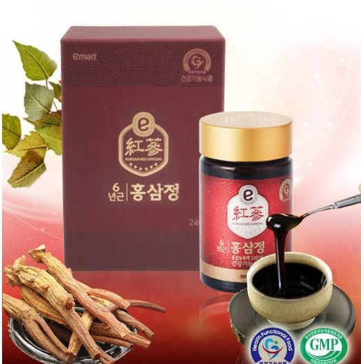 Korean Red Ginseng 6years Extract Emart Hong Sam Jung 240g (8.46 oz) Gift Set #Emart