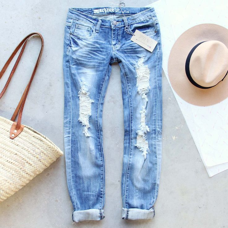 Driftwood Distressed Jeans: Alternate View #1