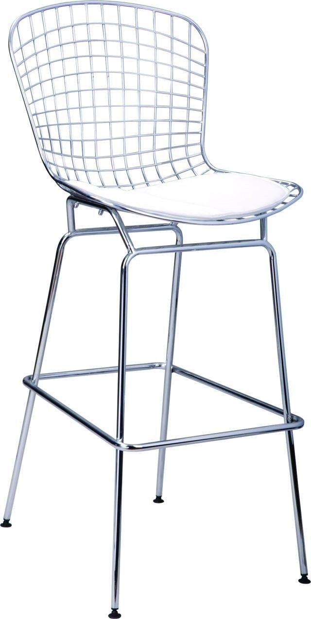 Stołek Barowy Harry Biała Poduszka Krzesła Krzesła