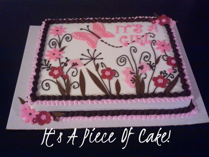 Exceptional Girl Baby Shower Sheet Cake   Google Search
