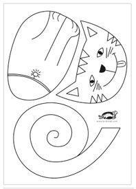 Skriv ut tre olika katter att pyssla ihop!