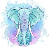 elefante hindu : Vector del elefante indio en la acuarela Blot Vectores
