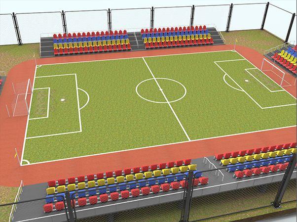Football Stadium 3d Model Layth Jawad In 2020 Football Stadiums Stadium Stadium Design