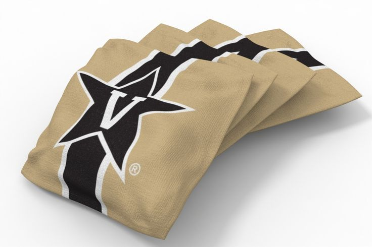 Vanderbilt Commodores Stripe Bean Bags-4pk (B)