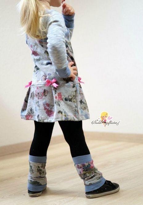 Verspieltes Kleid für Mädchen - Schnittmuster und Nähanleitung via Makerist.de
