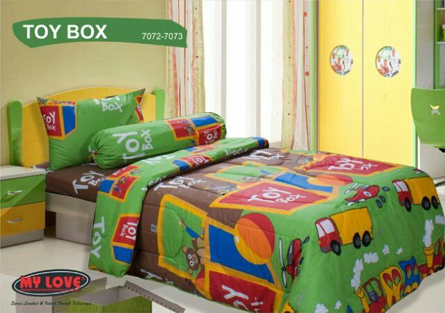 #SepreiMyLove motif Toy Box. Only 100.000 rupiahs. Available in Elgan Shop. Grab it fast ;)