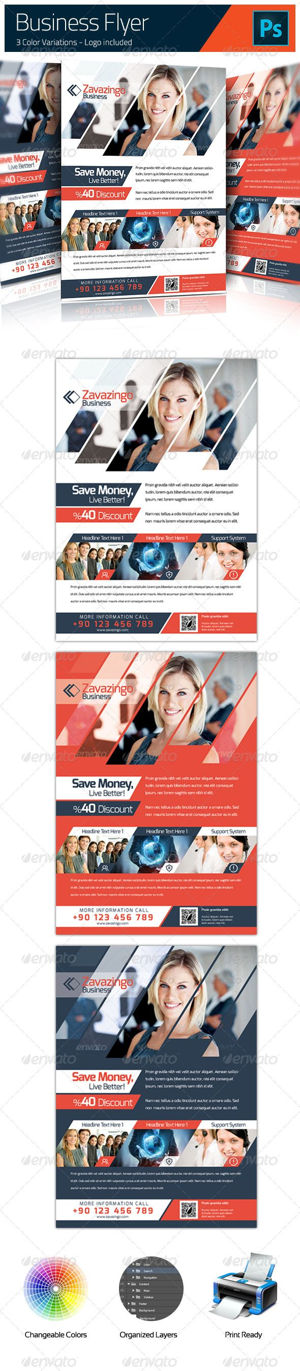 Corporate Flyer #GraphicRiver Features 2 Fully Layered PSD Files, 100% Editable Includes editable vector Logo (Vector Shape) A4 – Print Ready, 300dpi, CMYK – .3 cm bleeds Photos in the preview image are used for display purposes and are not included. Fonts: Exo: .fontsquirrel /fonts/exo If you have some questions, please contact me through my profile page Thank you. Created: 26July13 GraphicsFilesIncluded: PhotoshopPSD Layered: Yes MinimumAdobeCSVersion: CS PrintDimensions: 210x297 Tags: a4