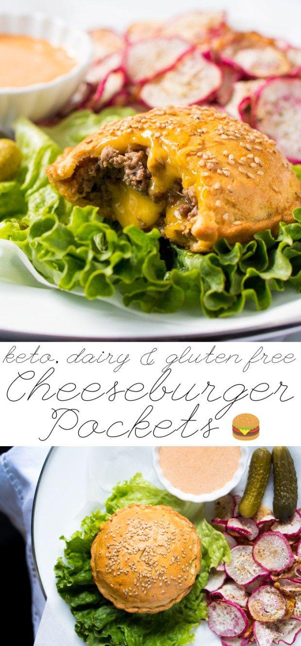 Gluten Free & Keto Cheeseburger Pockets 🍔 #keto #lowcarb #healthyrecipes #ketodiet