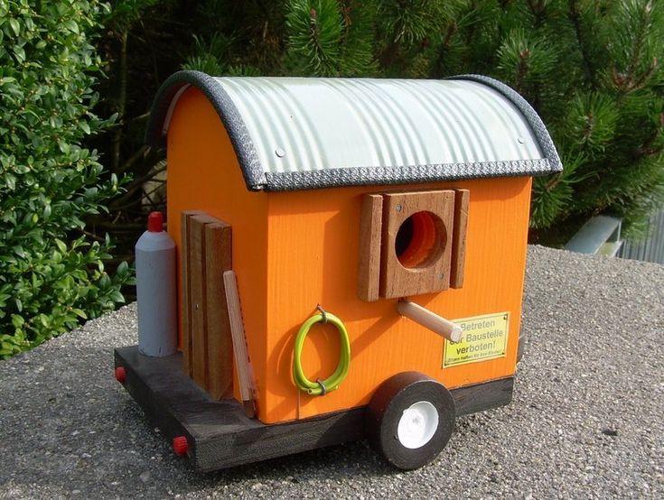 Witziges Vogelhaus Bauwagen Originelle Deko Geschenke Dekorative Vogelhauser Vogelhaus Nistkasten Bauen