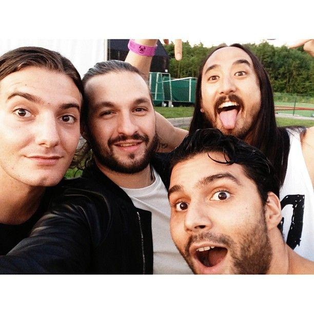 Alesso, Steve Angello, Steve Aoki & R3hab #tomorrowland #instagram instagram.com/steveangello