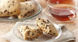 Vanilla Chocolate Chip Scones : Chocolate chip scones are great anytime of the day – serve at teatime, brunch or as an after school snack.